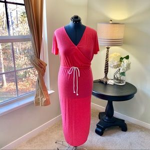 Soft Knit Drawstring Maxi Dress Size XL